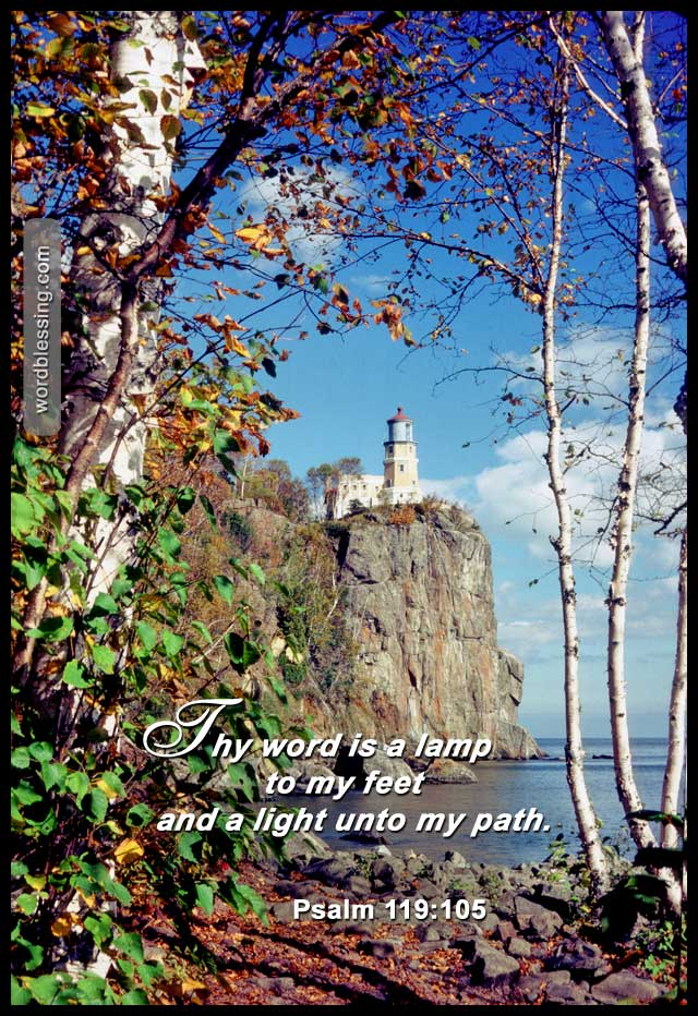 God's Word is a lamp to my feet and a light to my path  | Word Blessings |