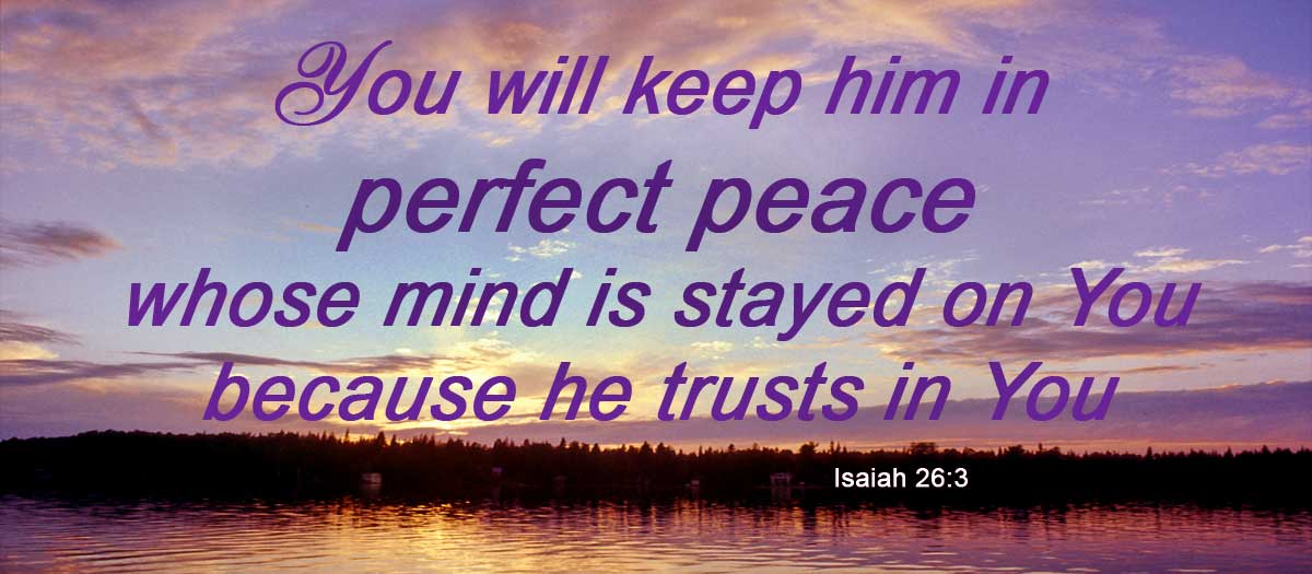 God gives perfect peace